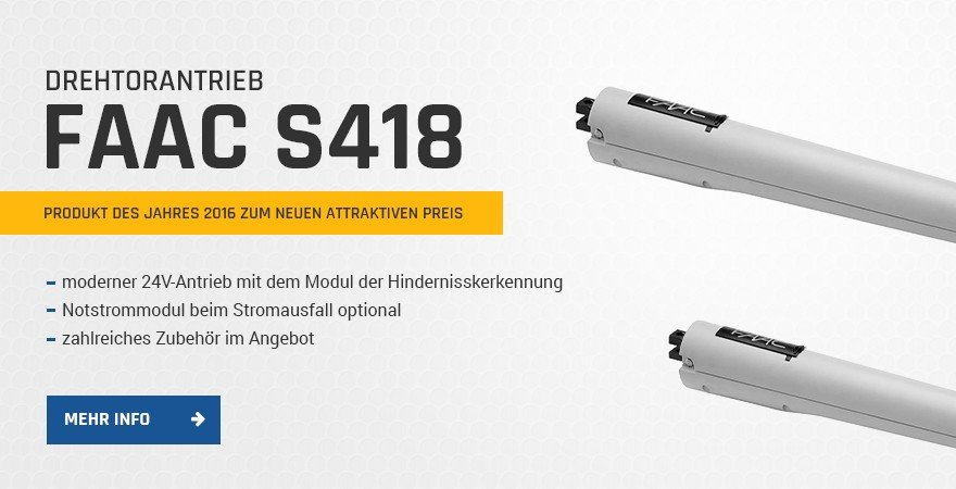 Drehtorantrieb FAAC S418 24 V/2 HANDY KIT